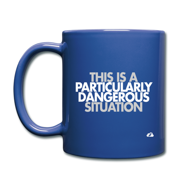 This is a PDS Mug - royal blue