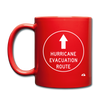 Hurricane Evacuation Route Mug - red