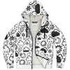 Weather Icon (White/Black) Zip-Up Hoodie