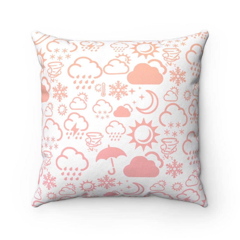 Weather Icon Square Pillow - Sunrise