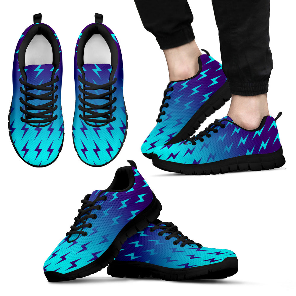 Blue Lightning Sneakers