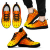 Orange Lightning Sneakers