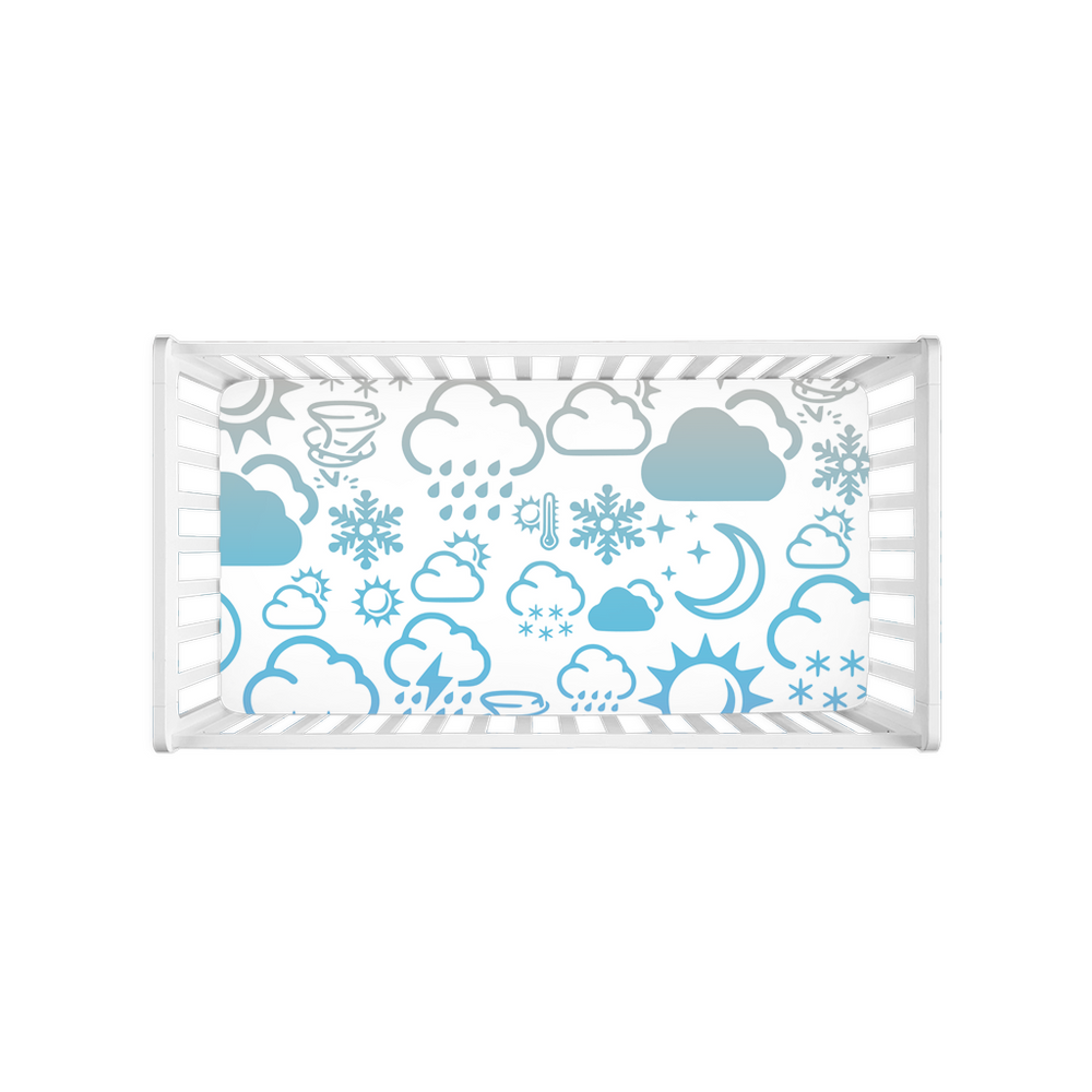 Weather Icon Crib Sheets - Rainbow