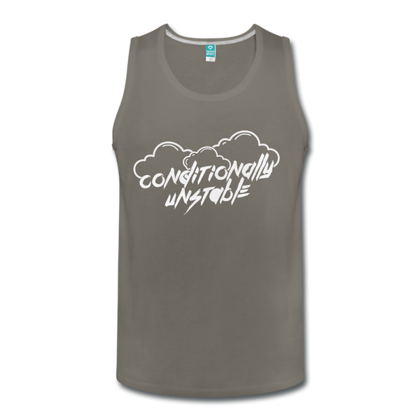 Conditionally Unstable Men's Tank - asphalt gray