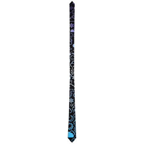 Weather Icon (Black/Blue/Purple) Neck Tie