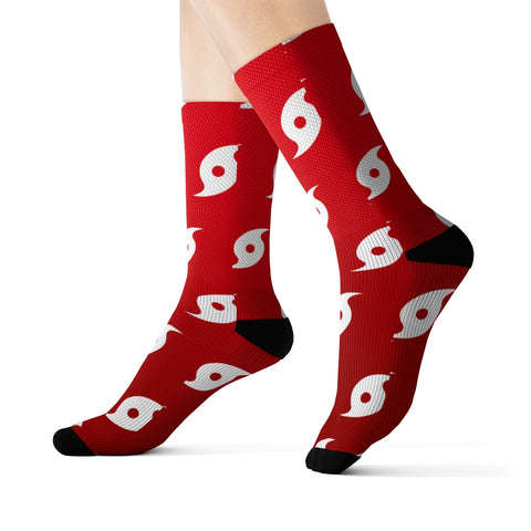 Hurricane (Red/White) Sock