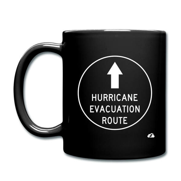 Hurricane Evacuation Route Mug - black