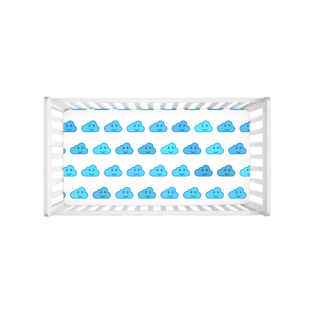 Stormoji Fluffy Crib Sheets