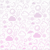 Weather Icon Placemat - Baby Pink