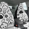 Car Seat Covers - Weather Icon (White/Black)