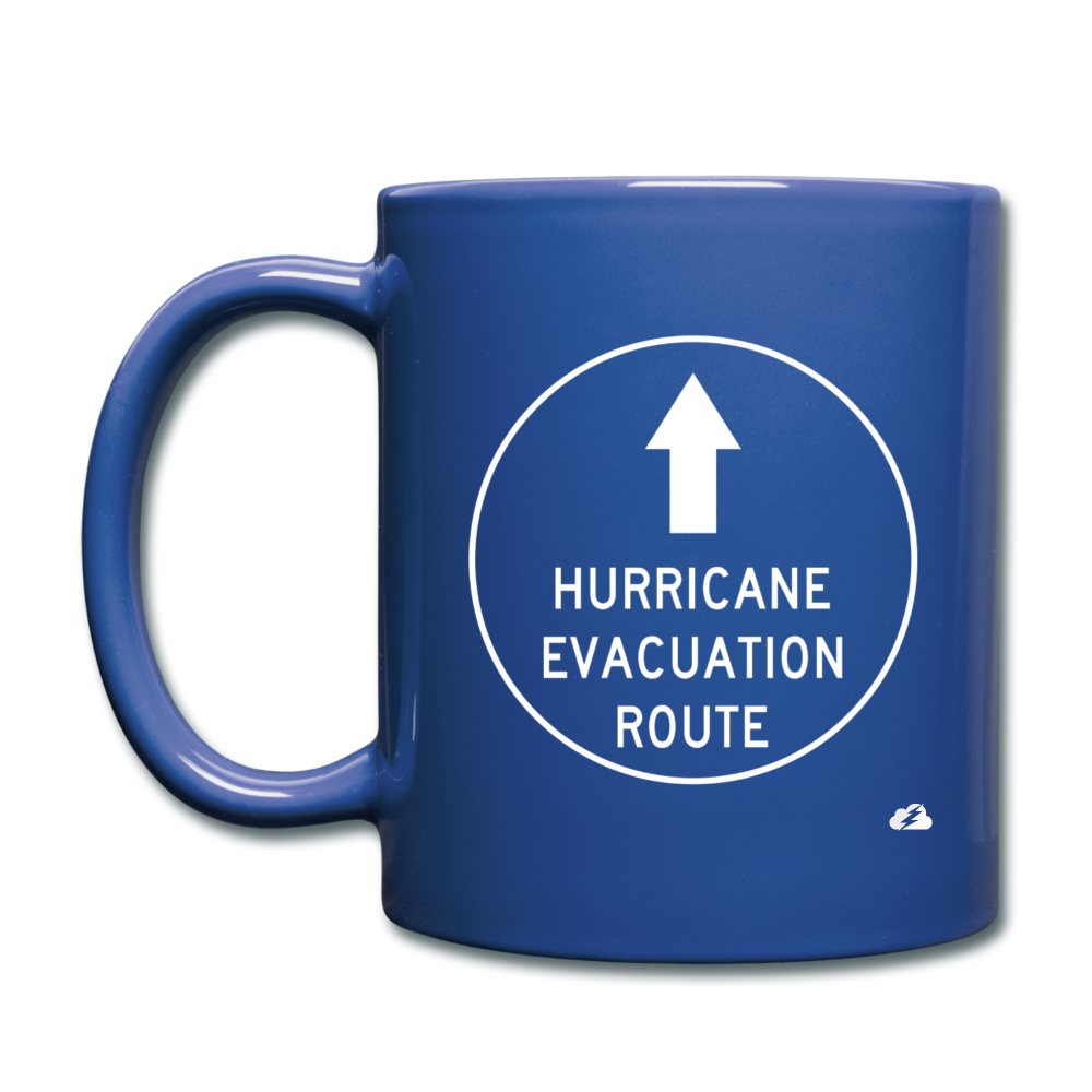 Hurricane Evacuation Route Mug