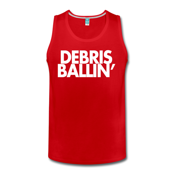 Debris Ballin' Men's Tank - red