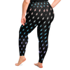 Lightning Leggings (Plus Size) (Rainbow/Black)