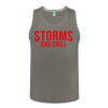 Storms and Chill Men's Tank - asphalt gray