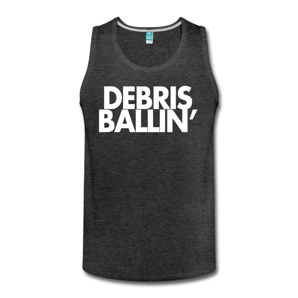 Debris Ballin' Men's Tank - charcoal gray