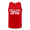 Punch A Hail Core Men's Tank - red