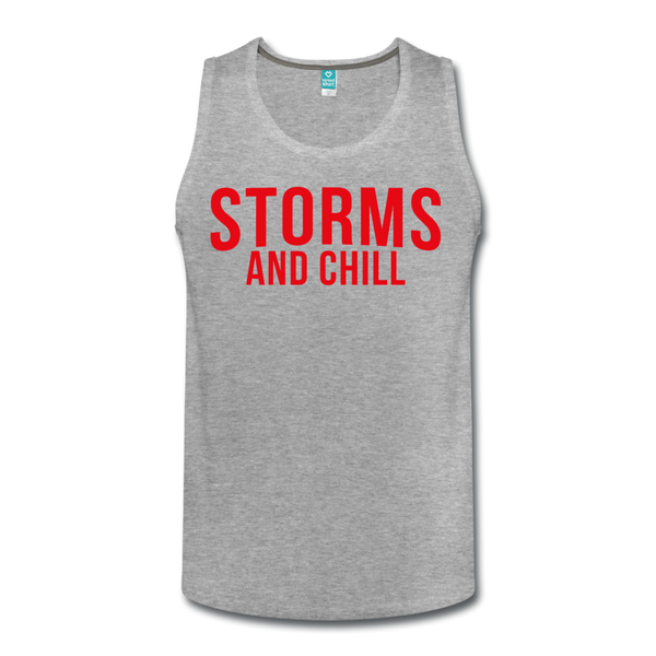 Storms and Chill Men's Tank - heather gray