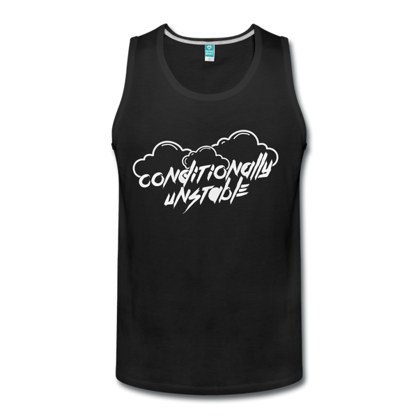 Conditionally Unstable Men's Tank - black