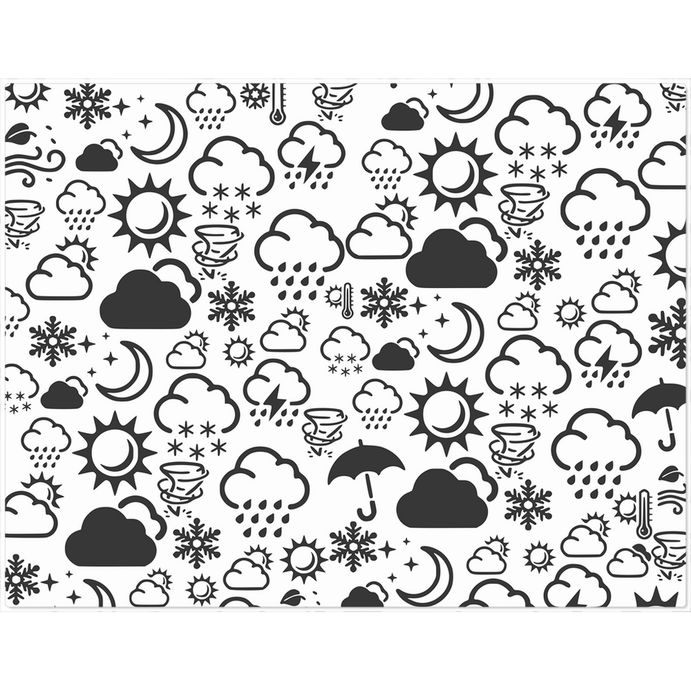 Weather Icon Placemat - White/Black