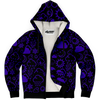 Weather Icon (Black/Purple) Zip-Up Hoodie