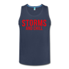 Storms and Chill Men's Tank - navy