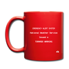 Tornado Warning Mug - red
