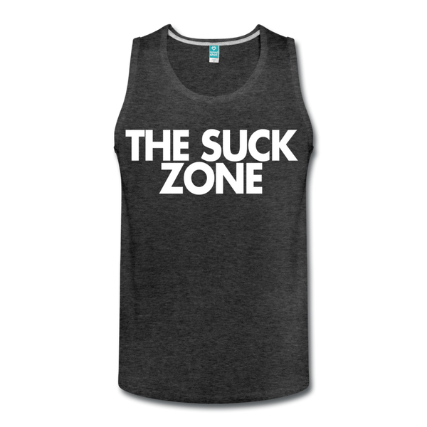 The Suck Zone Men's Tank - charcoal gray
