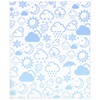 Weather Icon Minky Blanket - Baby Blue