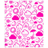 Weather Icon Minky Blanket - Pink