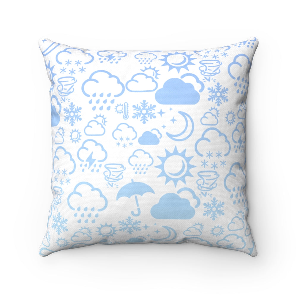Weather Icon Square Pillow - Baby Blue