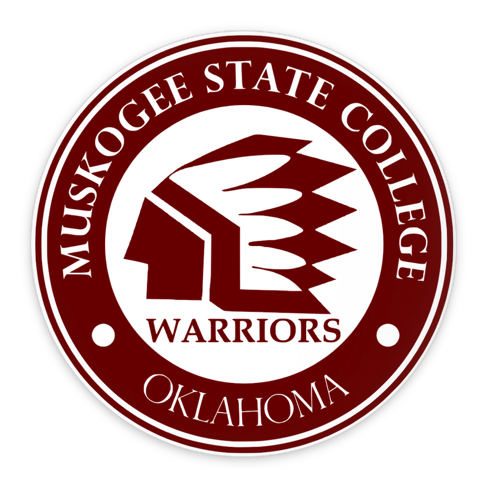 Muskogee State College 3in. Pin-Back Button