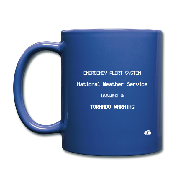 Tornado Warning Mug - royal blue