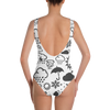Weather Icon (White/Black) One-Piece Swimsuit
