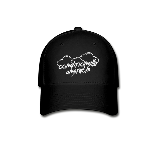 Conditionally Unstable Baseball Cap - black