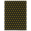 Lightning Minky Blanket - Black/Yellow