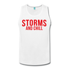 Storms and Chill Men's Tank - white