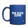 The Suck Zone Mug - royal blue