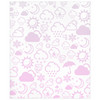Weather Icon Minky Blanket - Baby Pink
