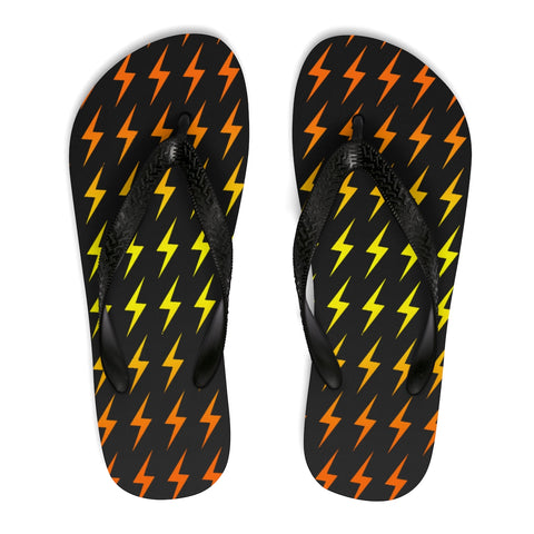 Lightning (Black/Bolt) Unisex Flip-Flops