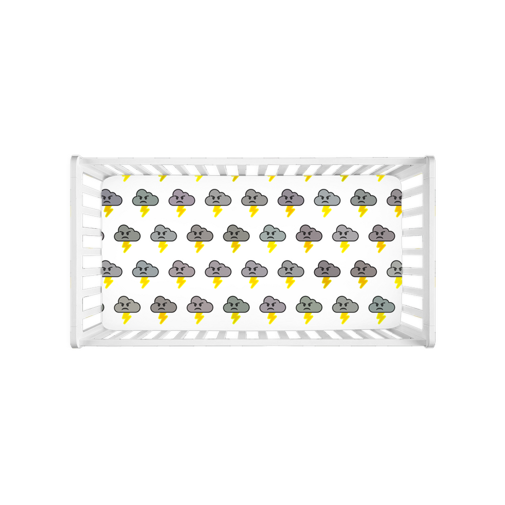 Stormoji Bolt Crib Sheets