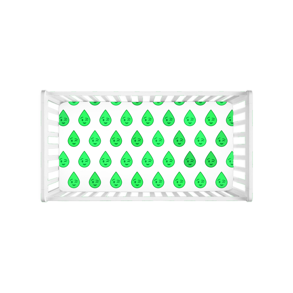 Stormoji Droppy Crib Sheets