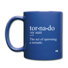 Tornado is a Verb Mug - black