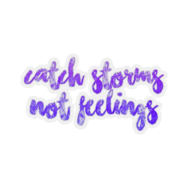 Catch Storms Not Feelings Sticker