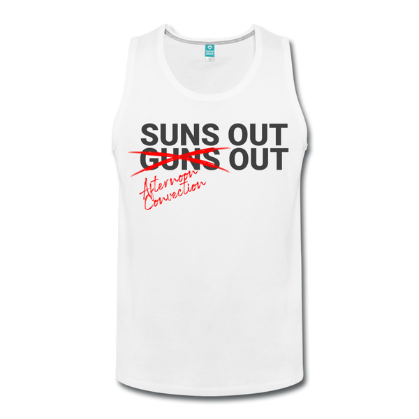 Suns Out Men's Tank - white