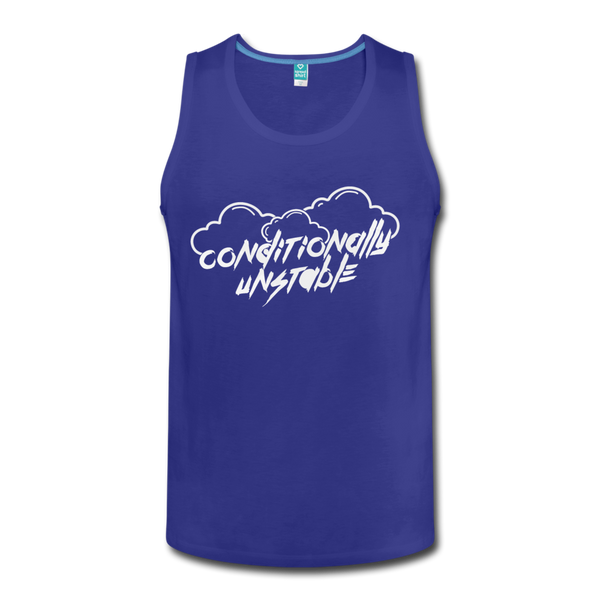 Conditionally Unstable Men's Tank - royal blue