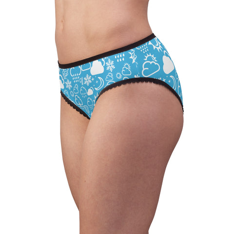 Weather Icon - Light Blue/White - Women's Briefs