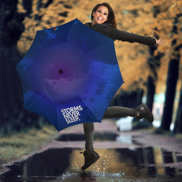 Storms Never Sleep (Blue) Umbrella