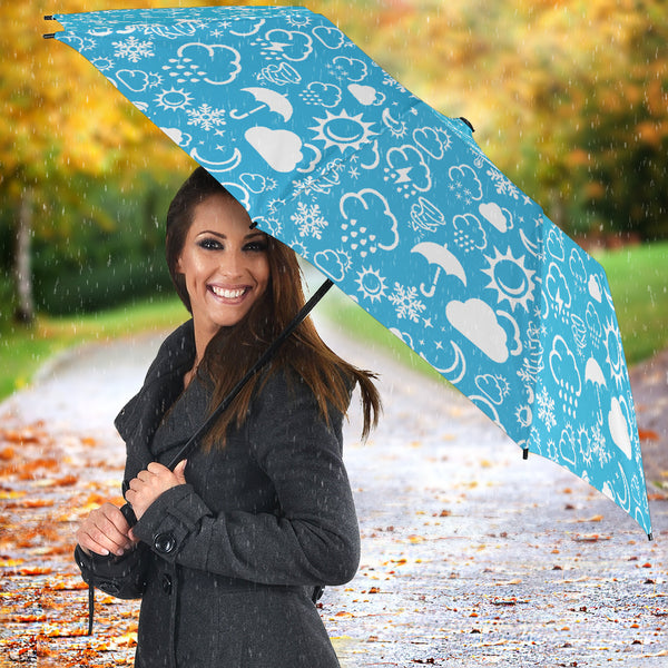 Light Blue Weather Icon Umbrella