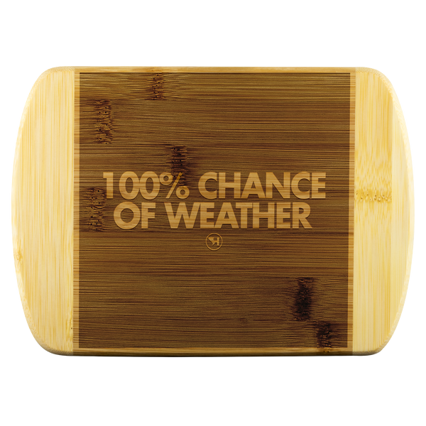 100% Chance of Weather Cutting Board