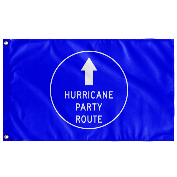 Hurricane Party Route Flag
